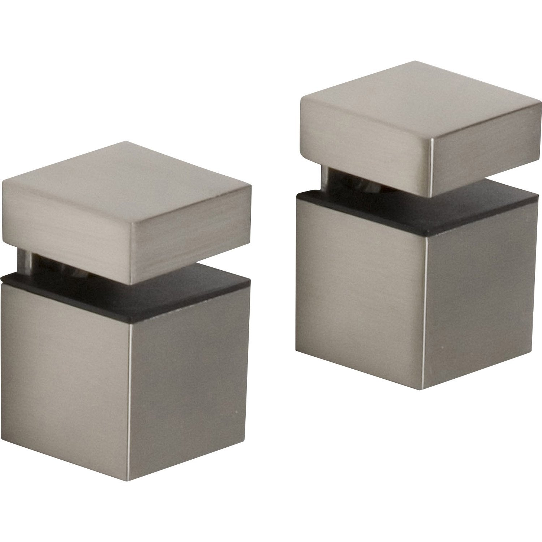 equerre acier inox l 5 5 x l 4 cm leroy merlin. Black Bedroom Furniture Sets. Home Design Ideas