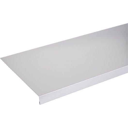 Appui de fen tre aluminium 30 x 250 mm l 1 5 m leroy merlin for Fenetre 30 x 60