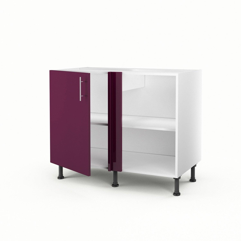 meuble de cuisine bas d 39 angle violet 1 porte rio x l. Black Bedroom Furniture Sets. Home Design Ideas