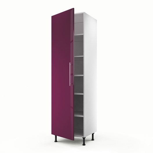 Meuble de cuisine colonne violet 1 porte rio x - Colonne cuisine 50 cm ...