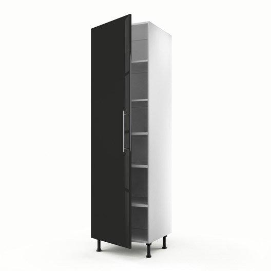 Meuble de cuisine colonne noir 1 porte rio x x for Porte cuisine 60 x 90