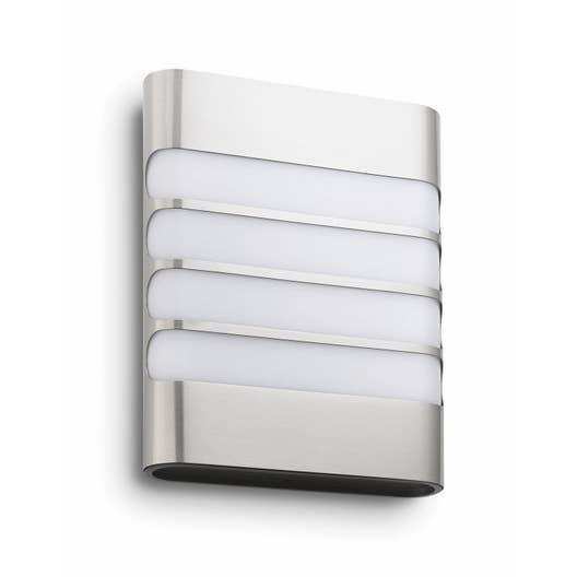 Applique Exterieur Philips intérieur demi-applique extérieure raccoom led intégrée 3 w = 270 lm, inox