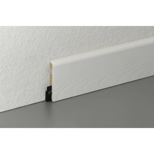 plinthe parquet et sol stratifi dcor blanc l220 cm x h58 x ep14 mm