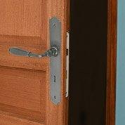 2 poignées de porte Nevers trou de clé INSPIRE, fer, 195 mm