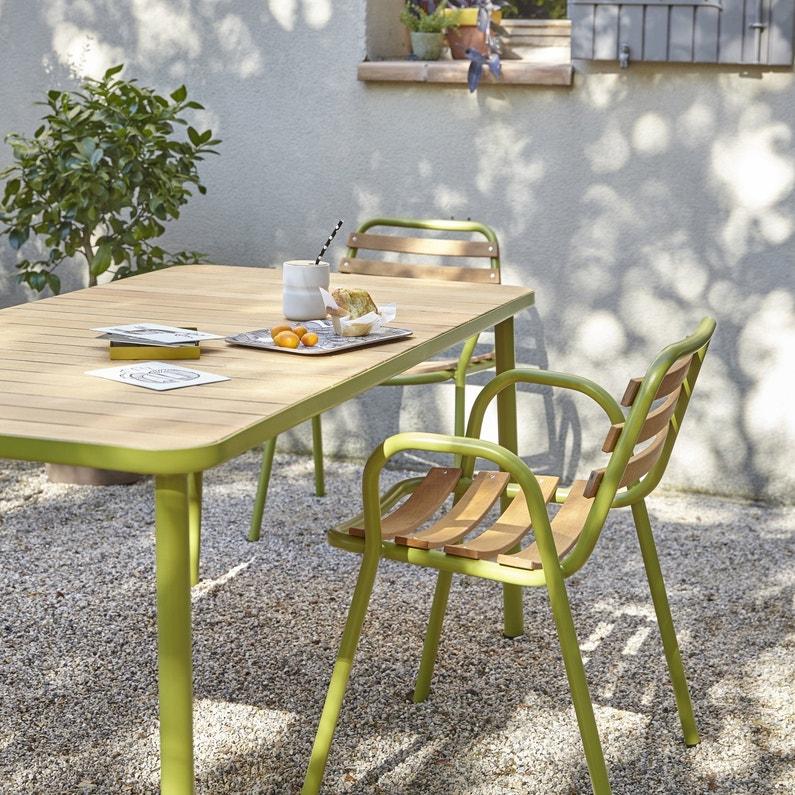 Une table de jardin en aluminium pour un entretien facile leroy merlin for Entretien d un salon de jardin en acacia