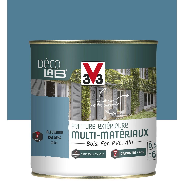 peinture multimat riau ext rieur v33 bleu fjord 0 5 l leroy merlin. Black Bedroom Furniture Sets. Home Design Ideas