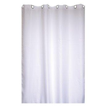 Rideau de douche en textile blanc-blanc n°0 l.180 x H.200 cm, Maya SENSEA