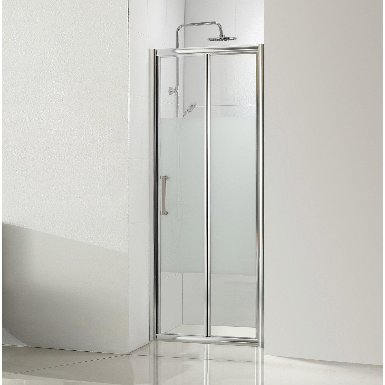 charmant Porte de douche pliante 90 cm, sérigraphié, Quad