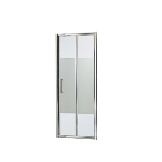Porte de douche pliante 90 cm s rigraphi quad leroy Porte pliante 90 cm transparente
