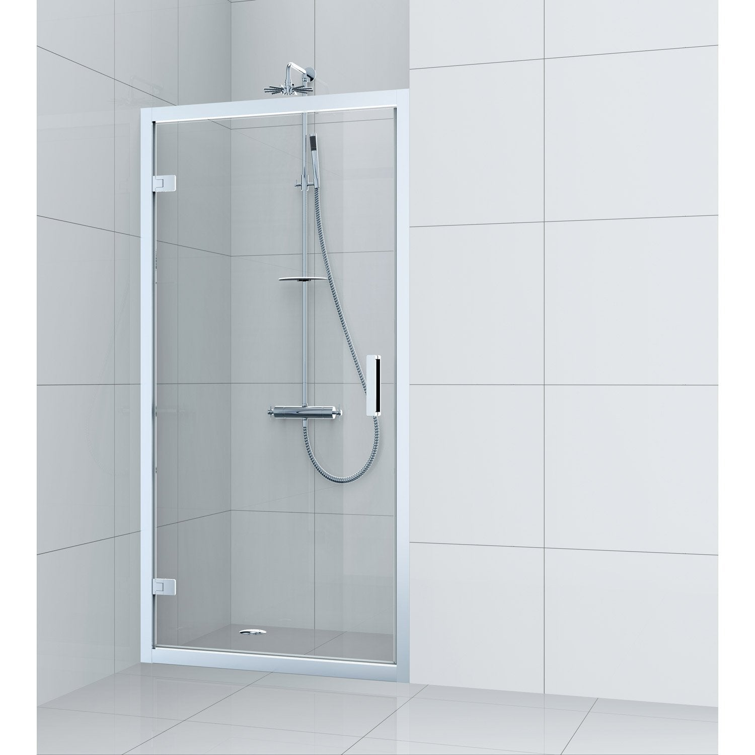 porte de douche pivotante 70 cm transparent charm leroy merlin. Black Bedroom Furniture Sets. Home Design Ideas