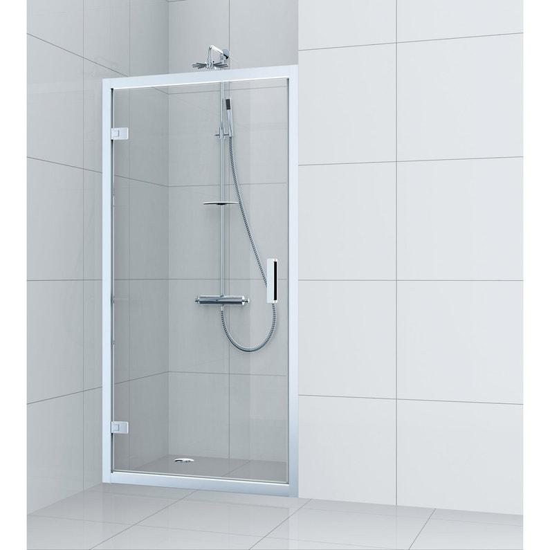 9fa679205f0f11 Porte de douche pivotante 70 cm, transparent, Charm   Leroy Merlin
