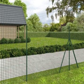 Grillage rouleau soudé Forte medium nature vert ,H.2 x L.20 m H.50 x l.50.8 mm