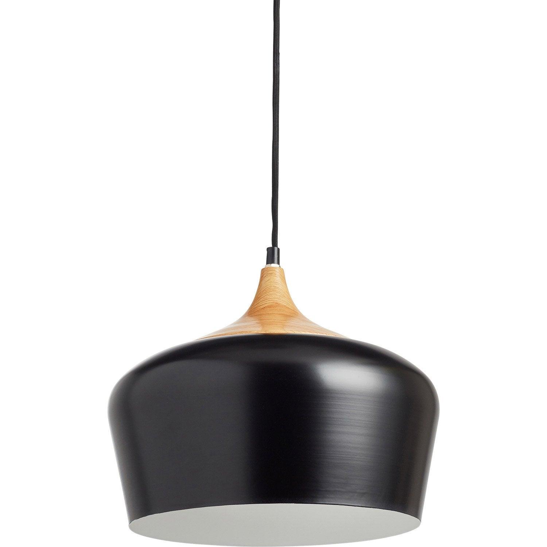 Suspension, e27 design Fresno métal noir 1 x 60 W INSPIRE