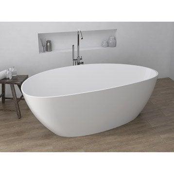 Baignoire lot salle de bains au meilleur prix leroy for Baignoire ilot compacte