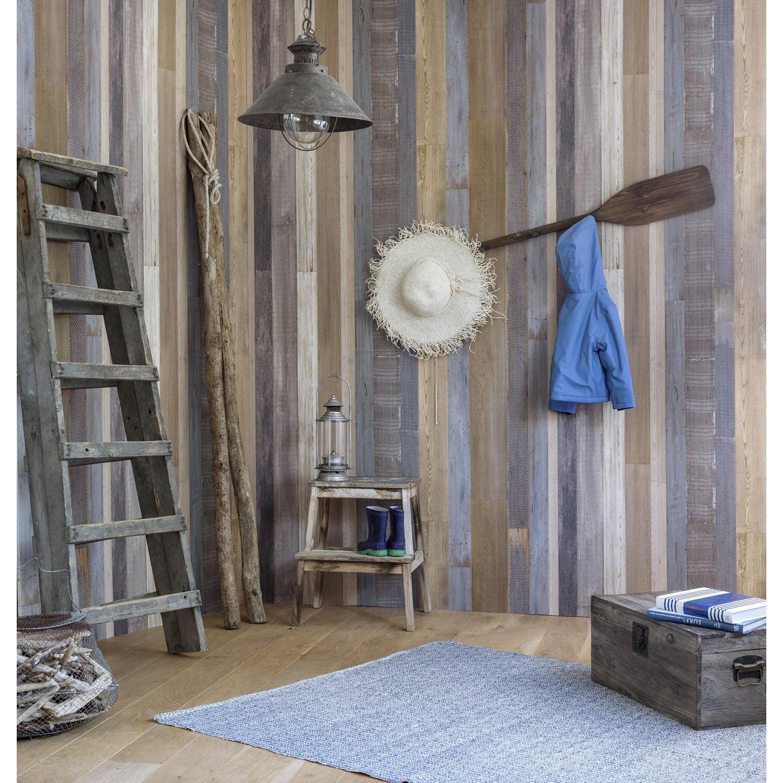 lambris pvc d cor mural patchwork l 260 x leroy merlin. Black Bedroom Furniture Sets. Home Design Ideas