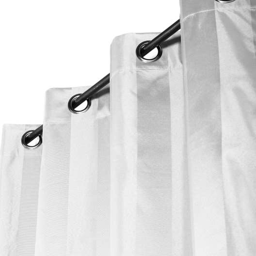 rideau occultant nuit totale blanc x cm. Black Bedroom Furniture Sets. Home Design Ideas