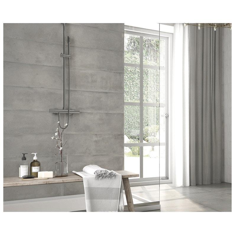 Carrelage Mur Et Sol Intenso Beton Gris Mat L 30 X L 60 Cm New