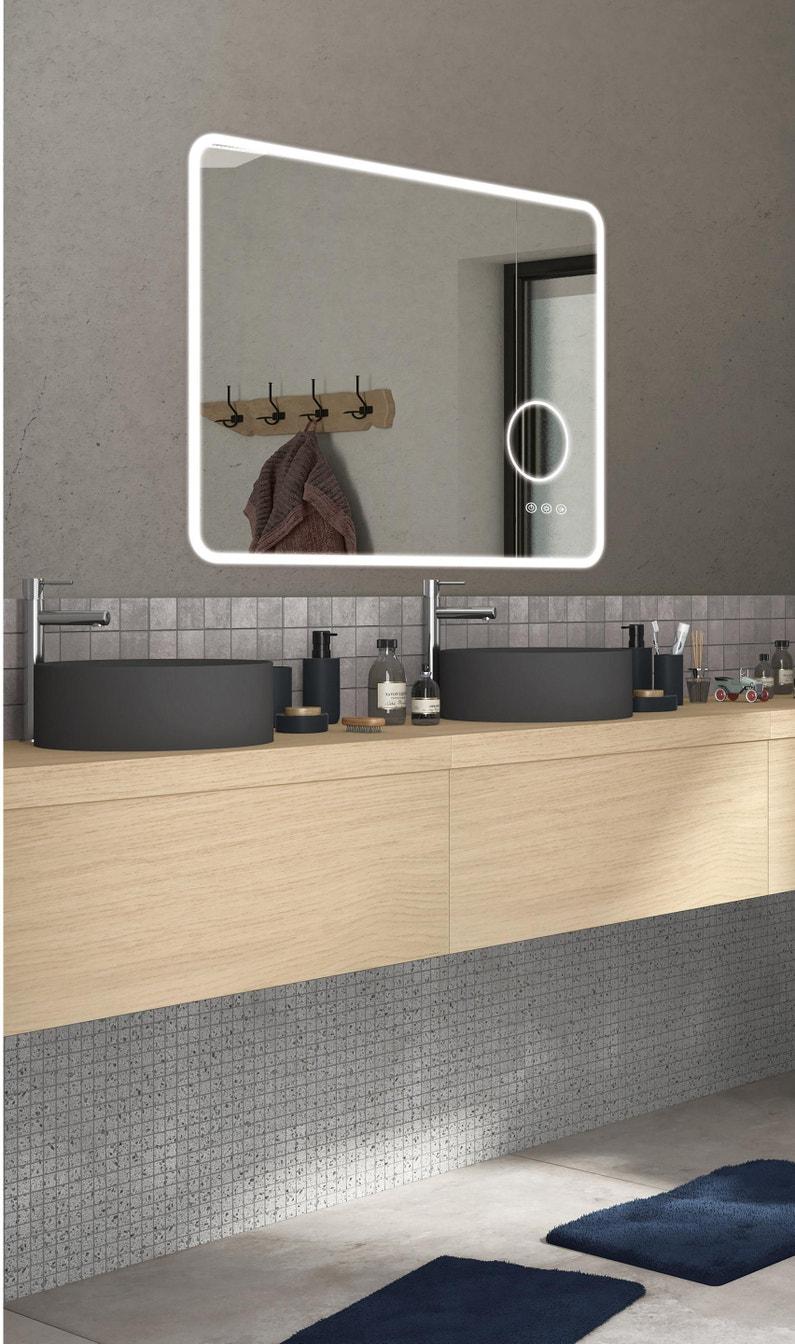 Miroir Salle De Sejour miroir lumineux avec éclairage intégré, l.120 x h.70 cm looka