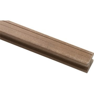 Lambourde Pour terrasse composite Premium, brun, L.2.4 m x l.5 cm x Ep.50 mm