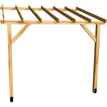 Appenti bois Auvent 1 pan, 6.00 m²