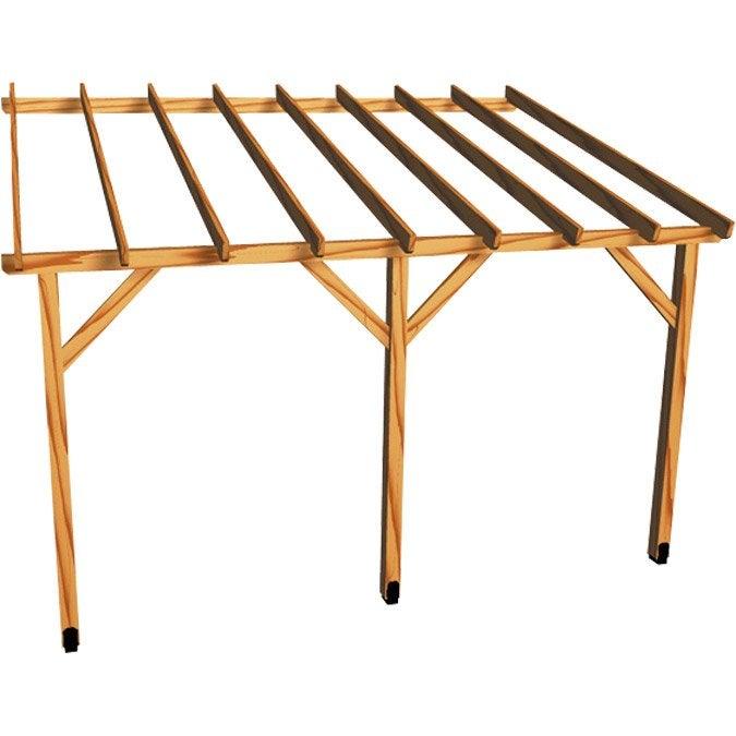 Appenti bois Auvent 1 pan, 12 m² BURGER