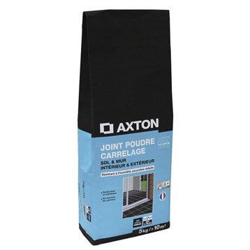 Joint poudre tout type de carrelage et mosaïque AXTON, noir, 5 kg