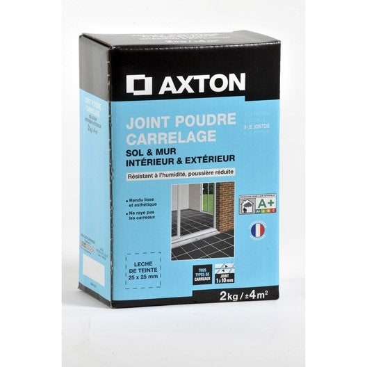 joint poudre tout type de carrelage et mosa que axton noir 2 kg leroy merlin. Black Bedroom Furniture Sets. Home Design Ideas