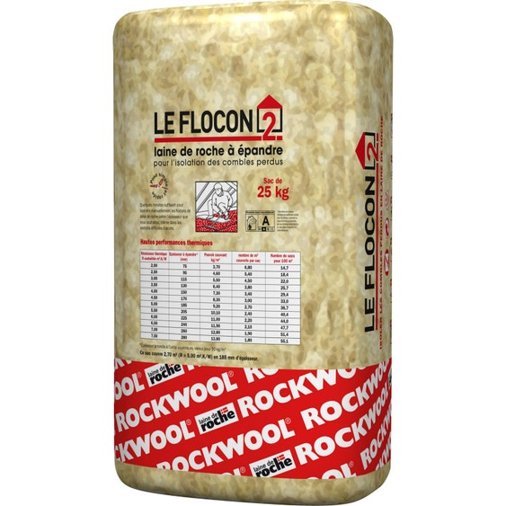 laine de roche pandre rockwool 25 kg r variable selon. Black Bedroom Furniture Sets. Home Design Ideas