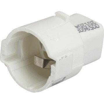 Douille électrique automatique B22 polyamide, blanc