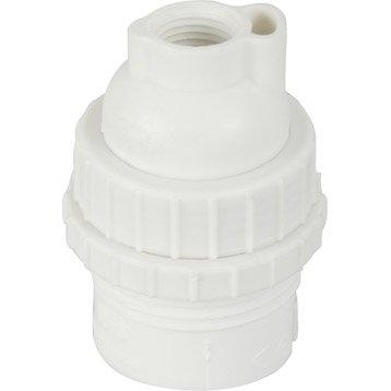 Douille électrique à vis B22 nylon, blanc