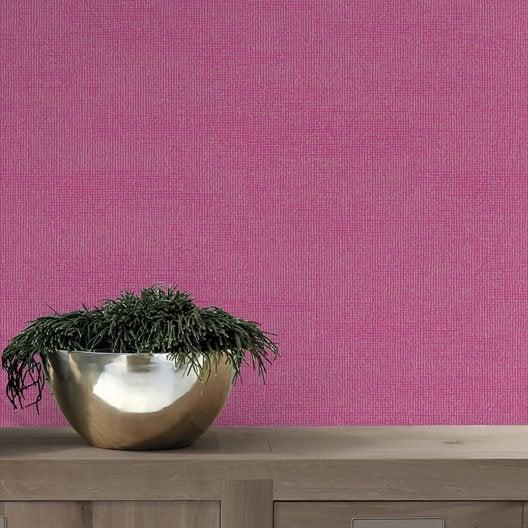 papier peint papier dulce paillette rose | leroy merlin