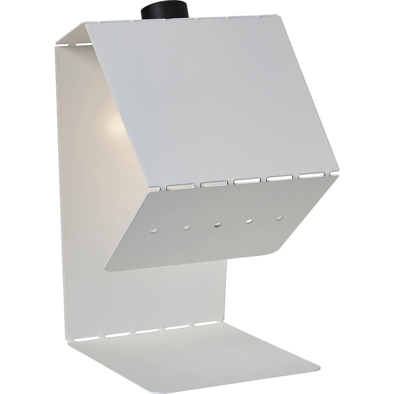 Pied de lampe Teruki, métal blanc blanc n°0, 61.9 cm, INSPIRE