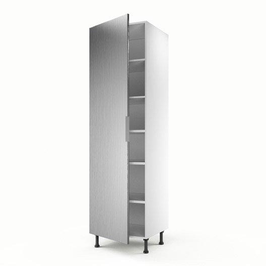 meuble de cuisine colonne d cor aluminium 1 porte stil x x cm leroy merlin. Black Bedroom Furniture Sets. Home Design Ideas