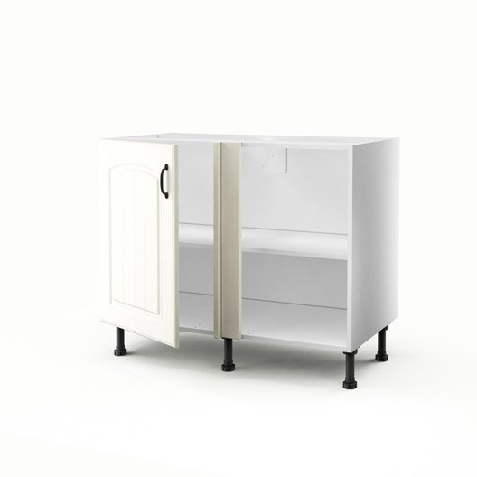 meuble de cuisine bas d 39 angle chanvre 1 porte ol ron. Black Bedroom Furniture Sets. Home Design Ideas