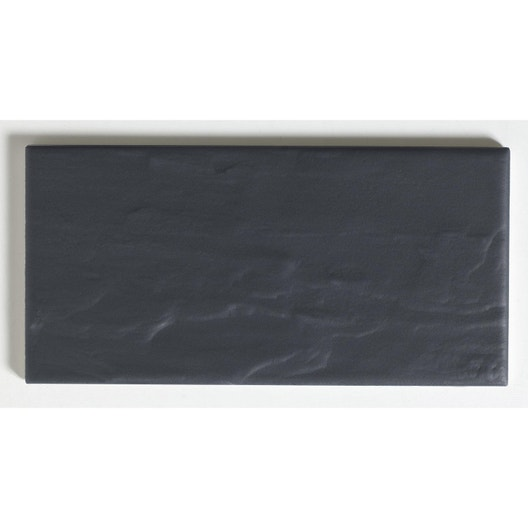 Faïence mur noir, Astuce ardoise l.10 x L.20 cm | Leroy Merlin