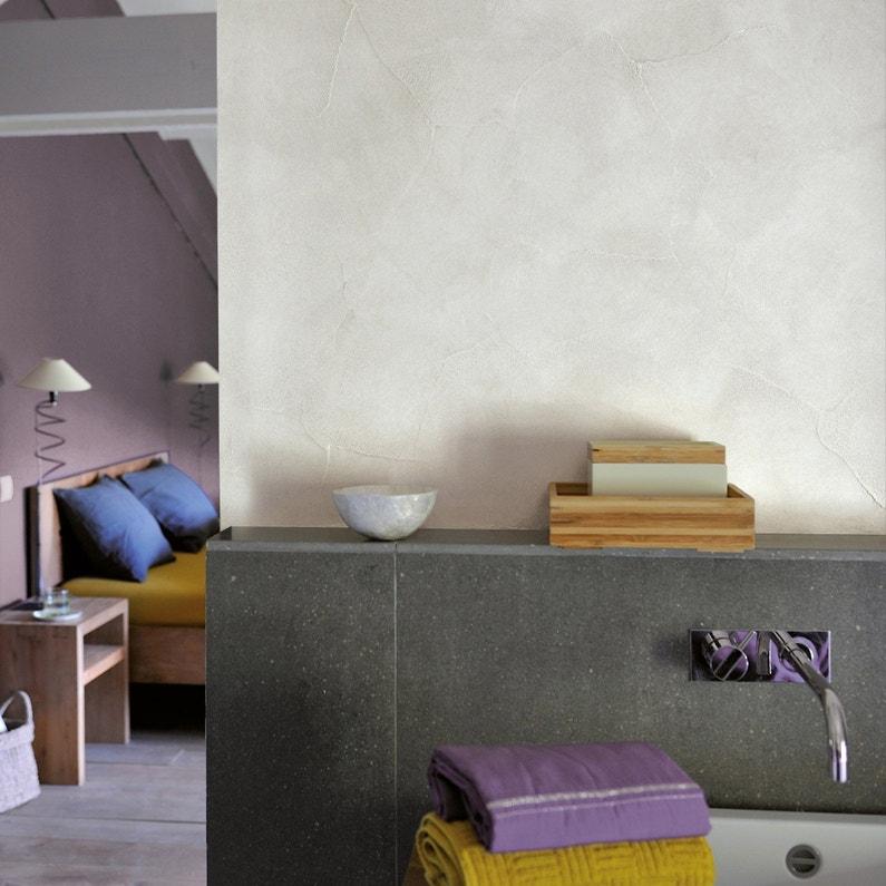 Peinture à effet, Tadelakt LUXENS, blanc calcaire 3, 5 l | Leroy Merlin