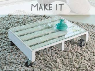 DIY : Fabriquer une table basse à roulettes