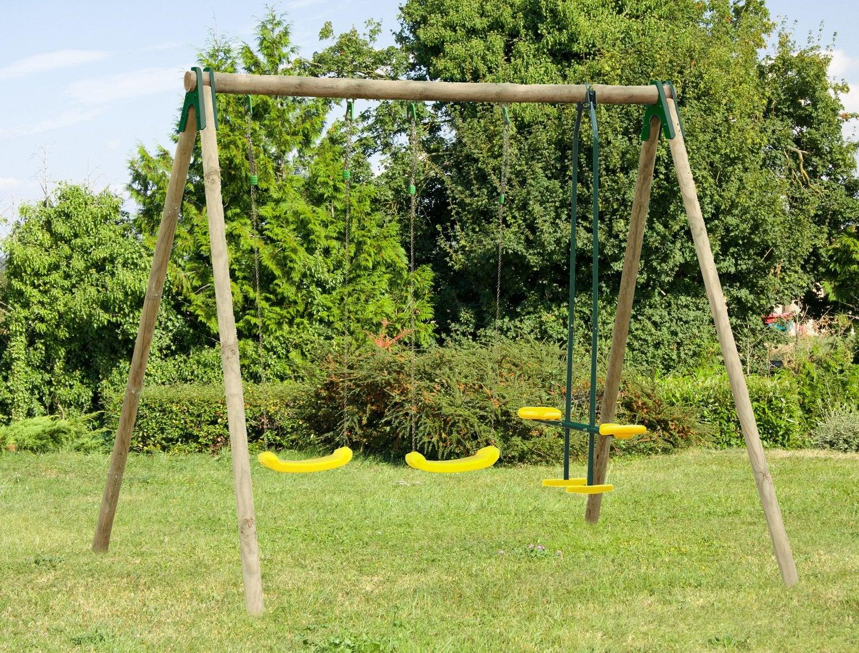Une Balancoire En Bois Dans Votre Jardin Leroy Merlin
