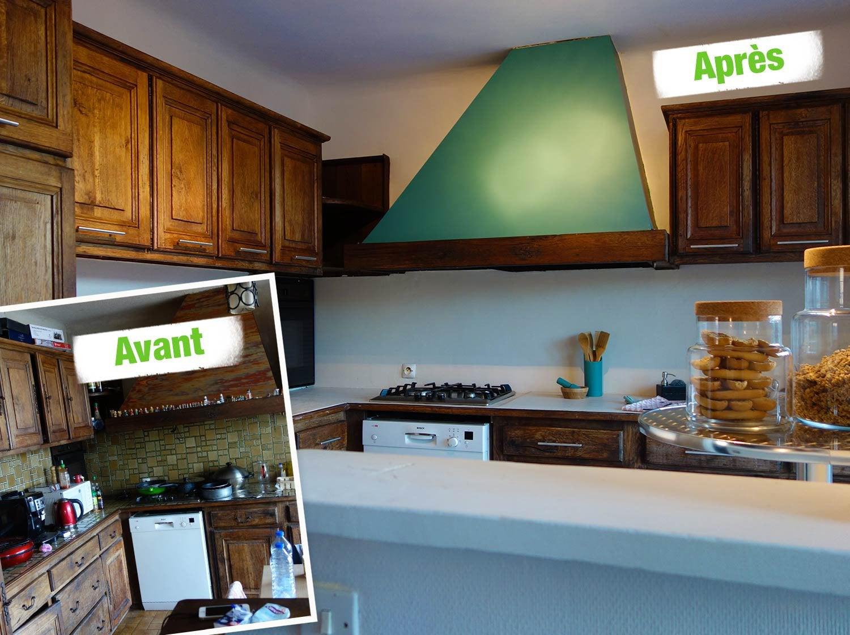 relooking cuisine rustique great beau relooker une. Black Bedroom Furniture Sets. Home Design Ideas