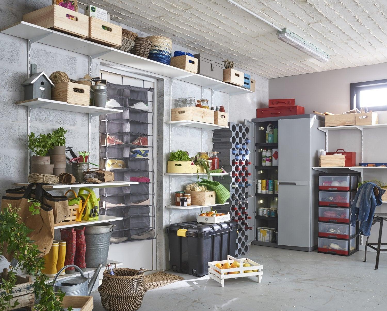 Un Garage Organisé Grâce Aux étagères Leroy Merlin