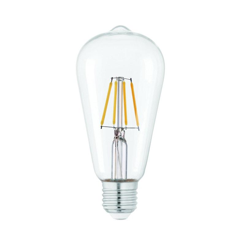 Ampoule Led à Filament Edison E27 470 Lm 40 W Blanc Neutre Eglo