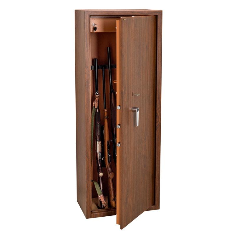 Armoire à Fusils à Clé 10 Fusils Technosafe H145 X L535 X P32 Cm
