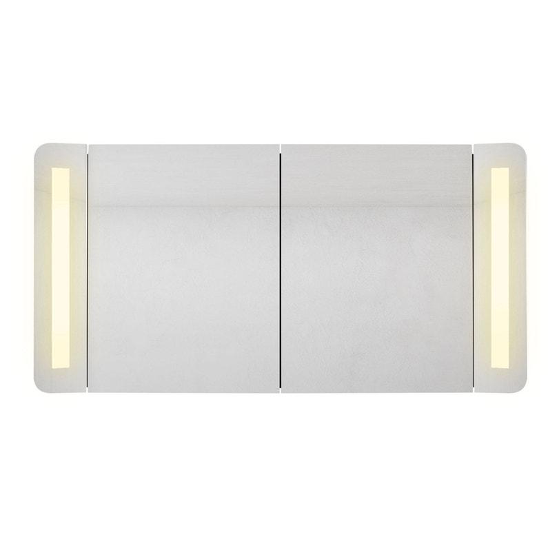Armoire de toilette lumineuse l. 120 cm, noir Fairway