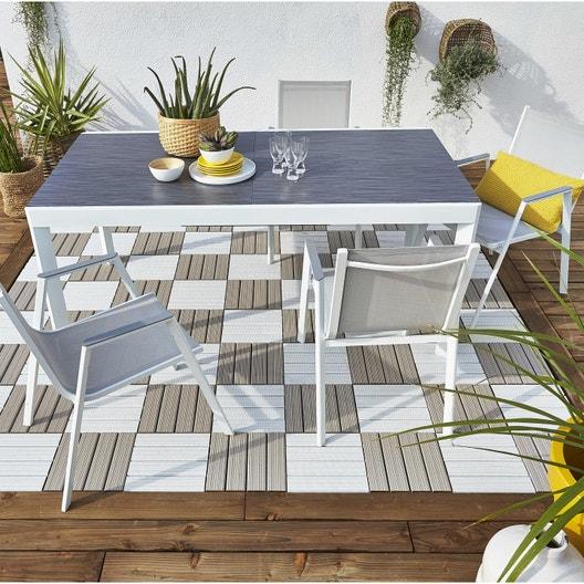 Salon de jardin Marbella aluminium NATERIAL gris, 4 personnes ...