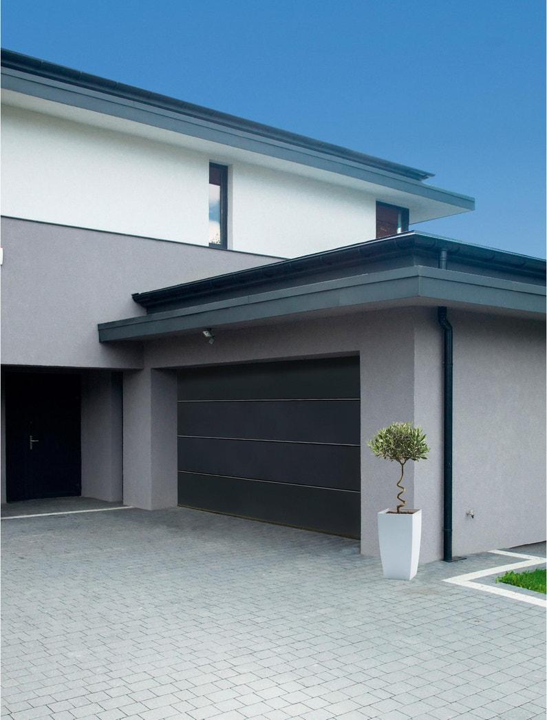 Porte De Garage Sectionnelle Motorisée Artens Premium H 212 X L 240 Cm