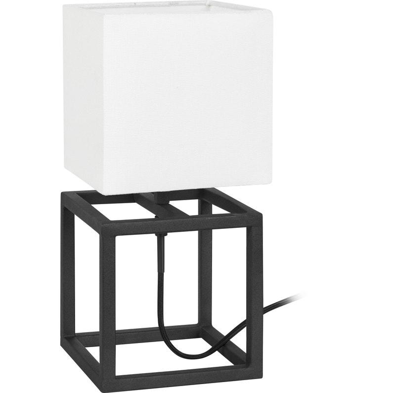 Lampe, métal noir, MARKSLOJD Cube