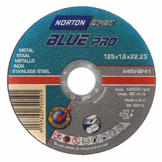 Disque Metal 230 Mm : disque m tal pour m tal norton mm leroy merlin ~ Edinachiropracticcenter.com Idées de Décoration
