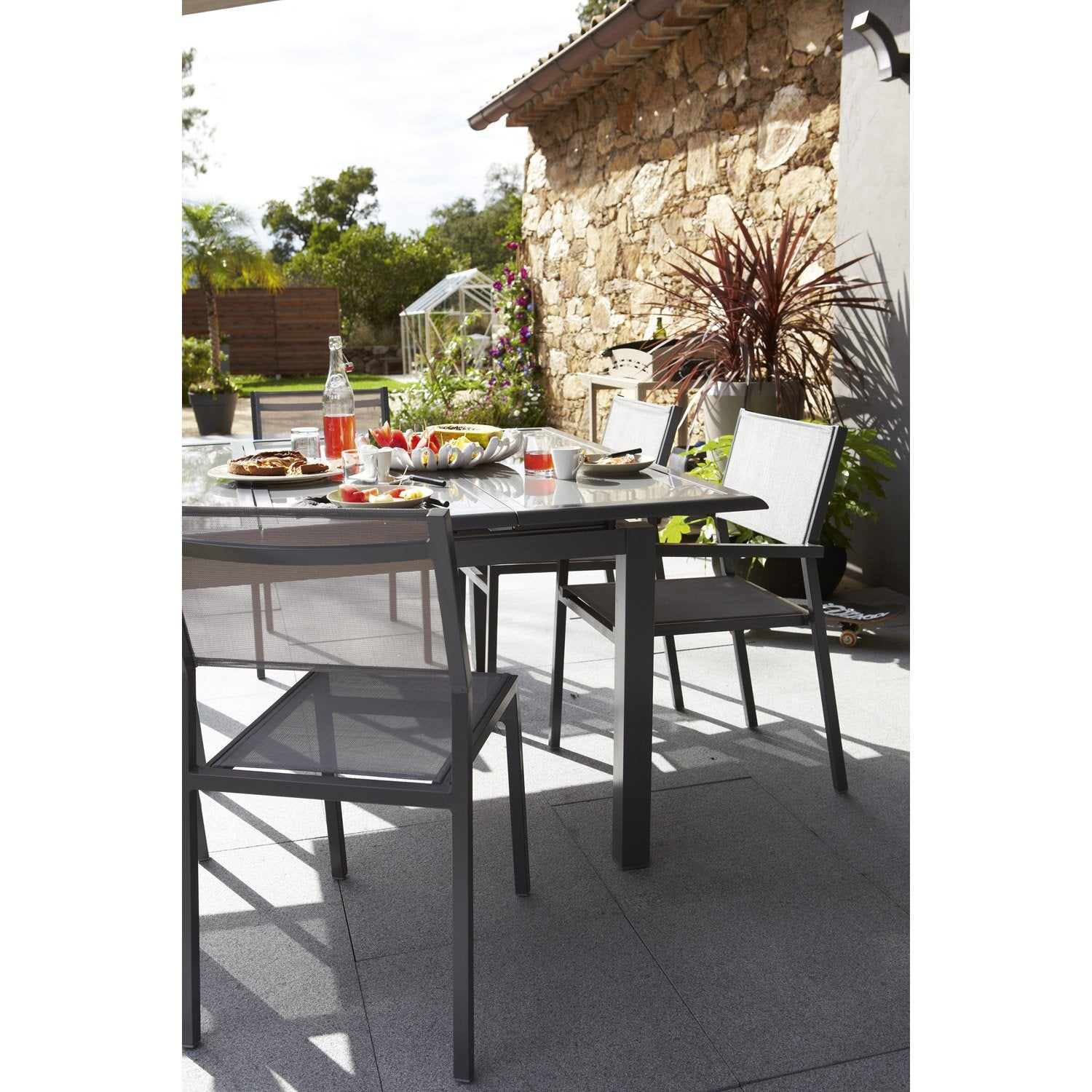 Best Table De Jardin Rectangulaire Avec Rallonge Niagara Ideas ...