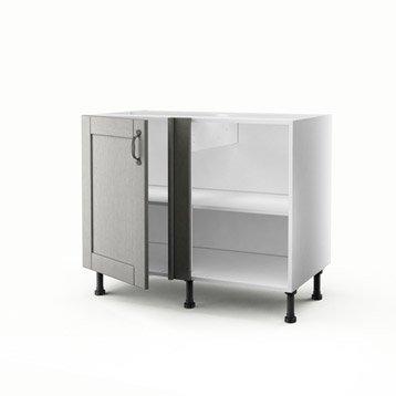 meuble de cuisine gris delinia nuage leroy merlin. Black Bedroom Furniture Sets. Home Design Ideas