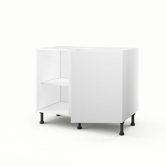 meuble de cuisine bas d 39 angle blanc 1 porte graphic x. Black Bedroom Furniture Sets. Home Design Ideas